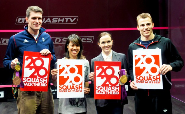 Nicol David et al shows support for squash's 2020 bid