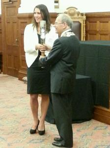 Joelle meets the mayor
