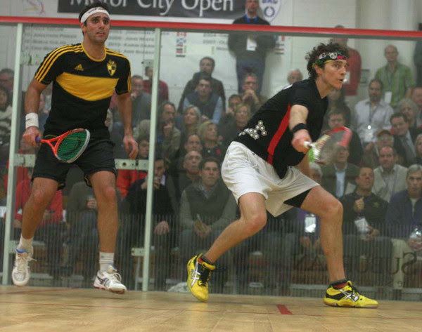 Cam Pilley goes on the attack against Karim Darwish