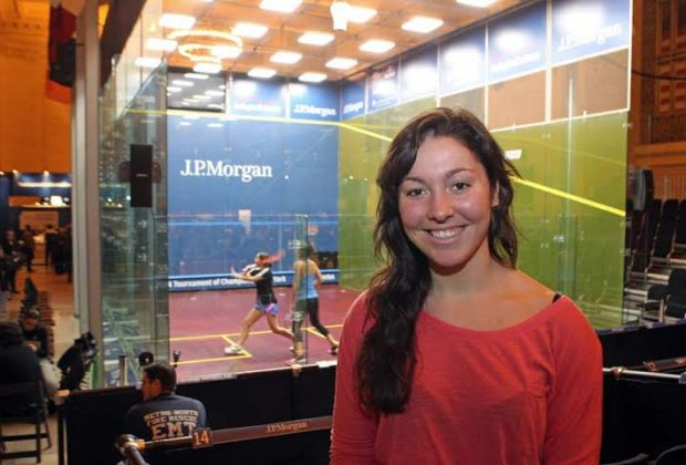 Amanda Sobhy can't wait to jump on the McWil glass court at Grand central Station
