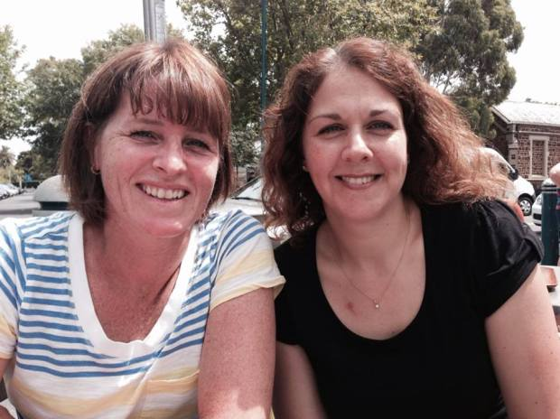 Lots to catch up on: Cassie and Carol meet up in Oz