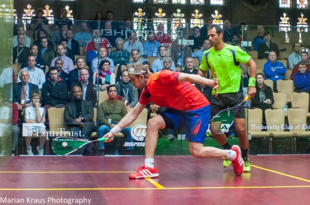 James Willstrop turns on the style against Amr Shabana in Chicago