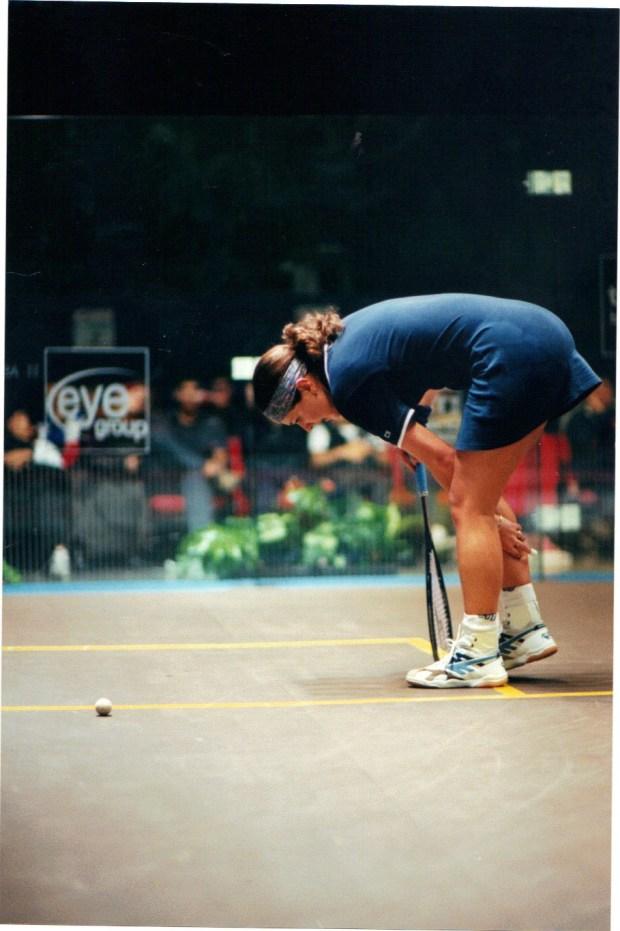 PAIN GAME: Cassie is injured in the British Open at Birmingham