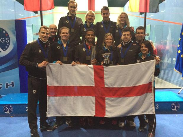 Team England celebrate