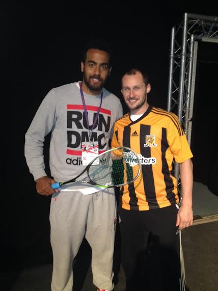 World number one Gregory Gaultier meets Hull's Tom Huddlestone