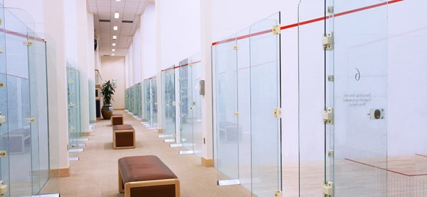 The squash courts at the ProSports Club