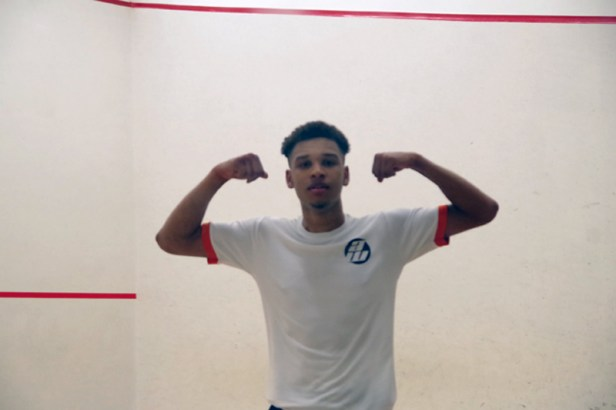 Richie Fallows celebrates his win. Pictures by KIM ROBERTS