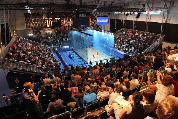 Big crowds attended the squash every day in Glasgow