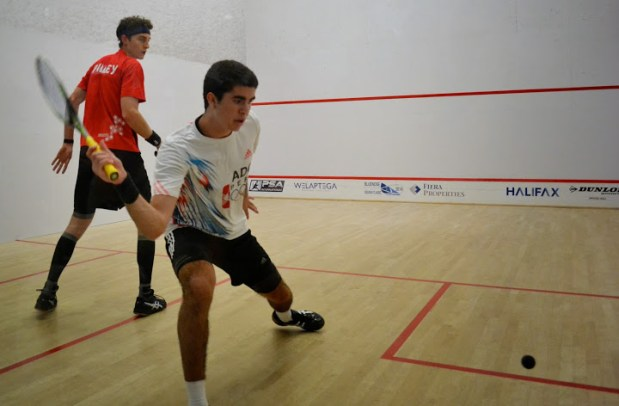 Diego Elias in action against Cam Pilley