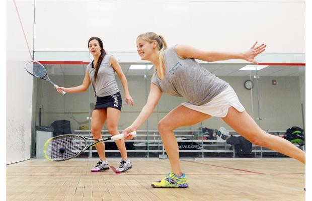 Nikki Todd (right) trains with Saskatchewan team-mate Jaycee Spagrud