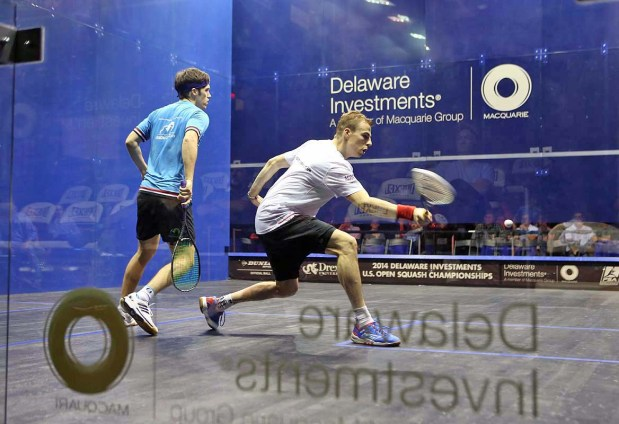 Nick Mtthew and Chris Simpson in action