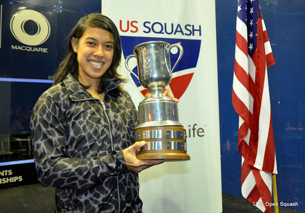 Nicol David wins the US Open for a third year in succession