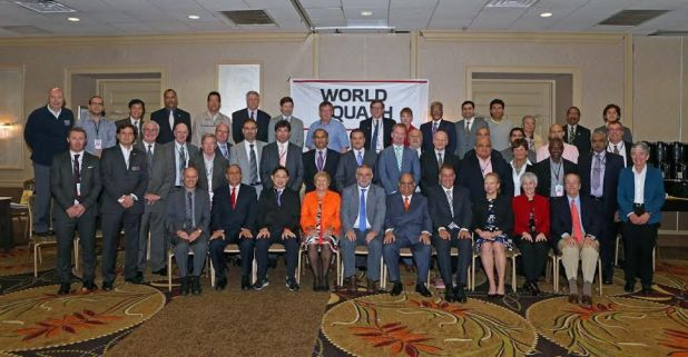 The delegates to the WSF annual meeting in Philadelphis