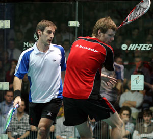 Gough (left) and Beachill in action