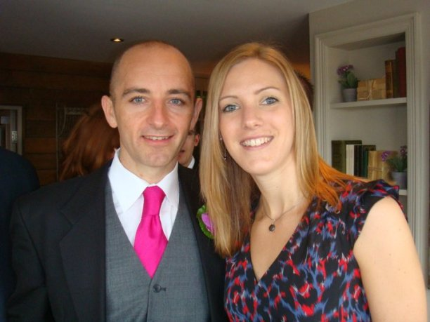Danny and Laura dress up for a wedding