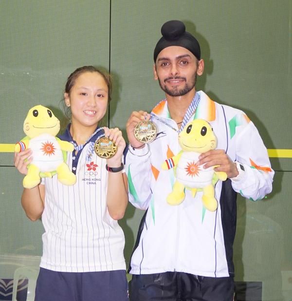 Harinder Pal Sandhu (right) and Liu