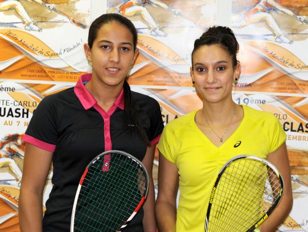 Habiba Ahmed (left) and Camille Serme