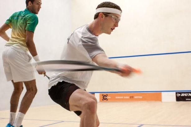 Todd Harrity in action against Declan James