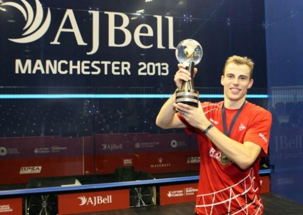 World champion Nick Matthew savours a magic moment in Manchester