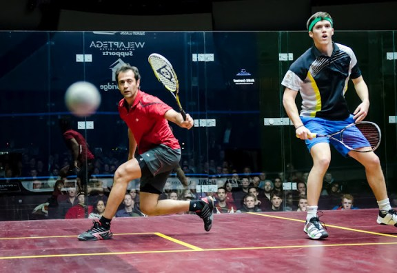 Chris Simpson loves being on court with Amr Shabana
