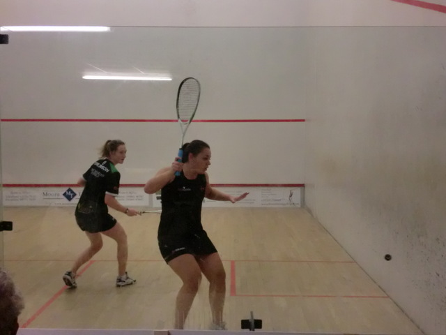 Millie Tomlinson sends Lucy Beecroft into the back corner