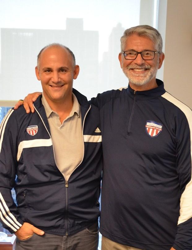 Paul Assaiante (right) with sponsor David Ganek