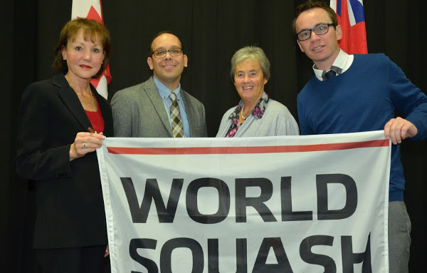 FLYING THE FLAG: Lolly Gillen, Danny Da Costa, Jackie Robinson and Andrew Mount