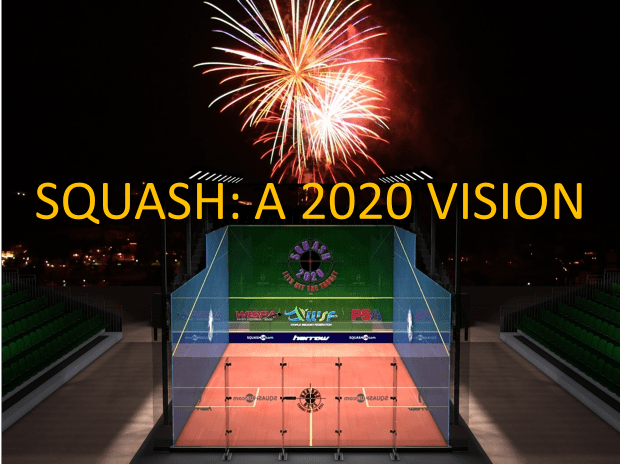 Squash is waiting for the green light for 2020. Squash Mad graphic by SIMON SCOTT