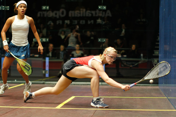 Emily Whitlock meets Nicol David in the first round