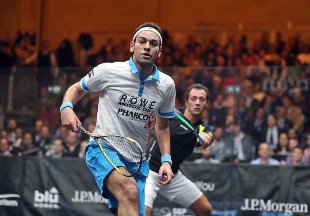Mohamed Elshorbagy battles to victory against Amr Shabana