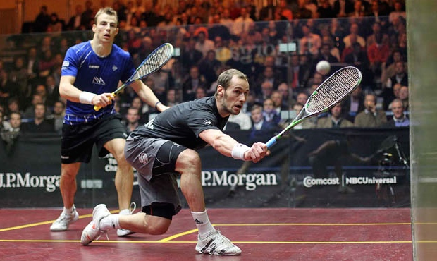 Gregory Gaultier, in action here against Nick Matthew,  is looking forward to his ToC return