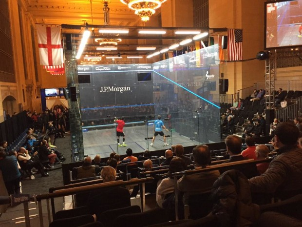 The action gets under way inside the Vanderbilt Waiting Hall at Grand Central