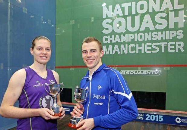 National champions Sarah and Nick