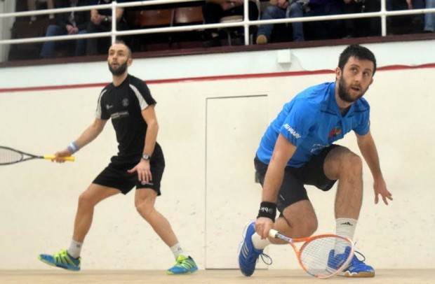 Daryl Selby (right) and Jaymie Haycocks in action in Edinburgh