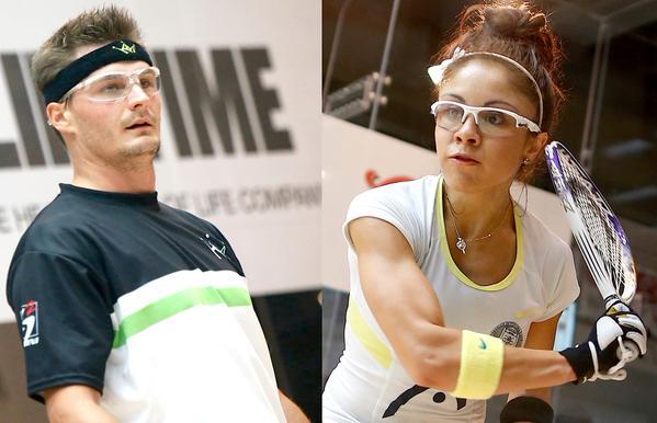 Racquetball champions Kane Waselenchuk and Paola Longoria