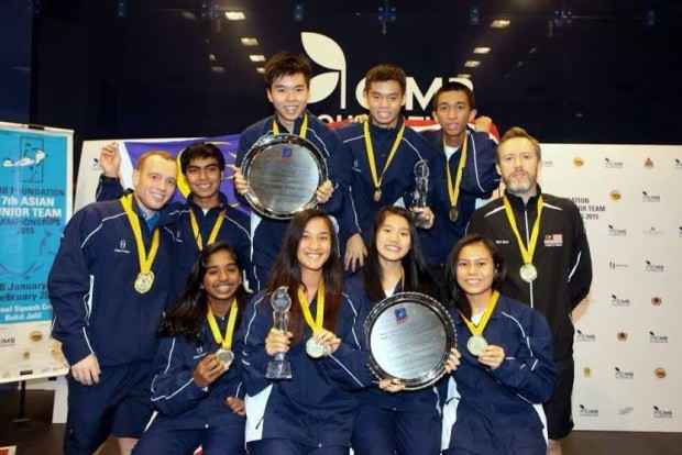Team Malaysia, winners of the Asian Junior Championships