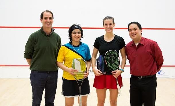 Finalists Sam Cornett and Maria Toorpakai Wazir (yellow top)