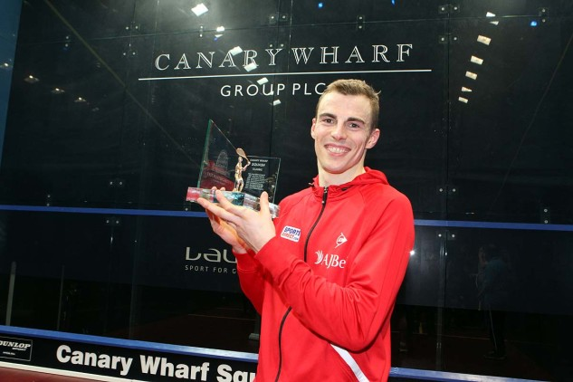 Nick Matthew wins at Canary Wharf in 2014
