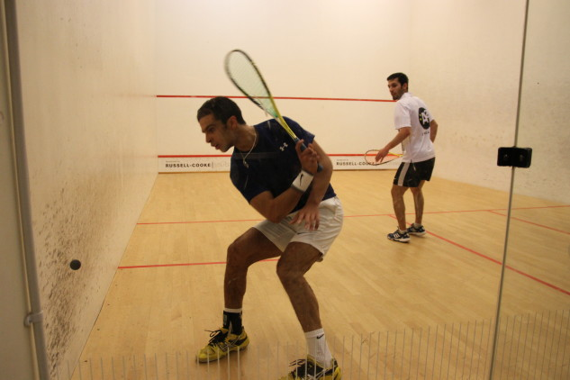 Mohamed Abouelghar in action at Wimbledon