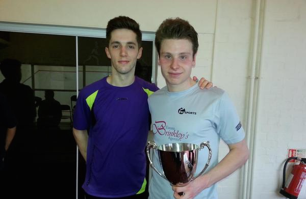 Dulwich Open champion Charles Sharpes (right) and Ben Coleman