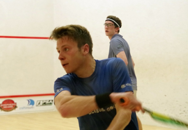 Charles Sharpes meets Declan James in the last eight