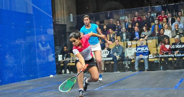 Nour El Tayeb gets in front of Nour El Sherbini