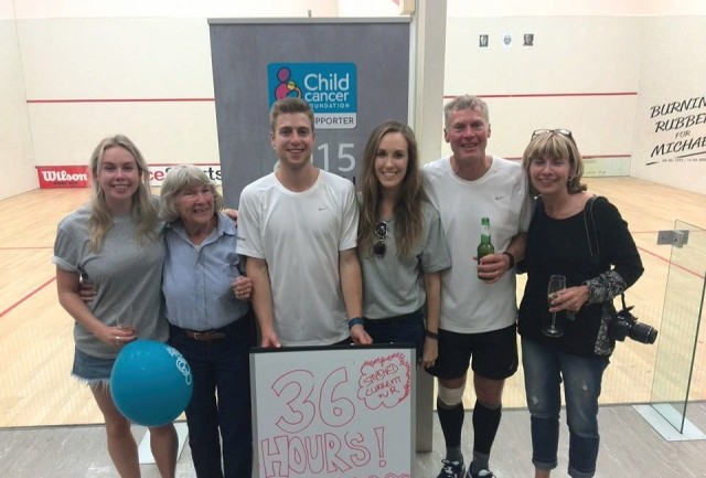 You deserve a beer, Dad! Brett Meyer and son James smash the world record