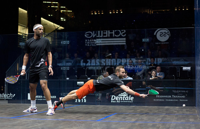 Marche was also diving in the qualifying final against Shaun Le Roux