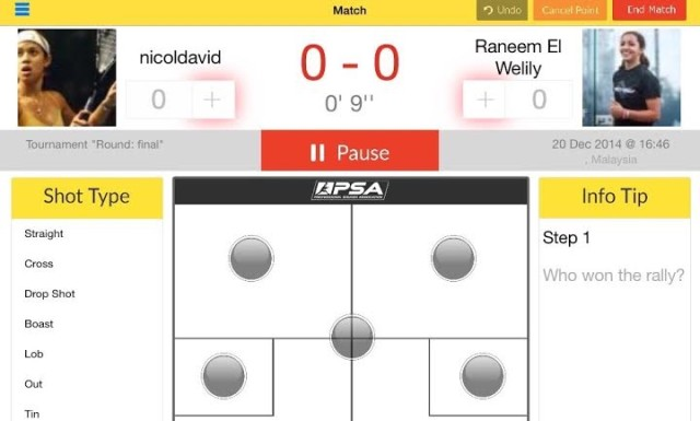Tracking your shot selection with SquashApp