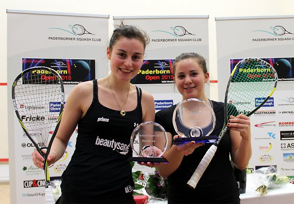 Olivia Blatchford (right) and runner-up Cyrielle Peltier