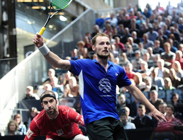 Gregory Gaultier wins the Grasshopper Cup final against Simon Rosner