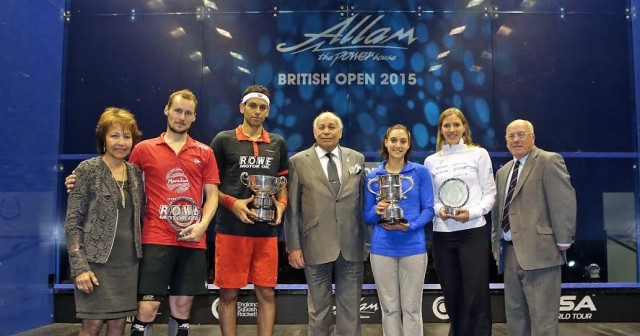 Trophy time in Hull with sponsor Assem Allam and his wife