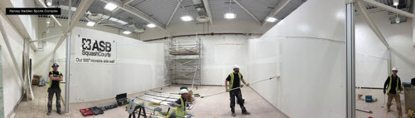 The latest ASB moveable walls are installed at Harvey Hadden Sports Centre in Nottingham