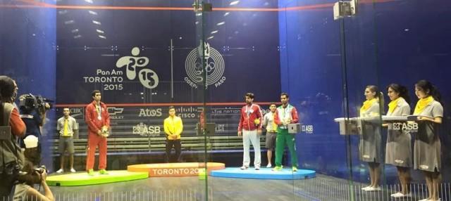 The men's medal ceremony